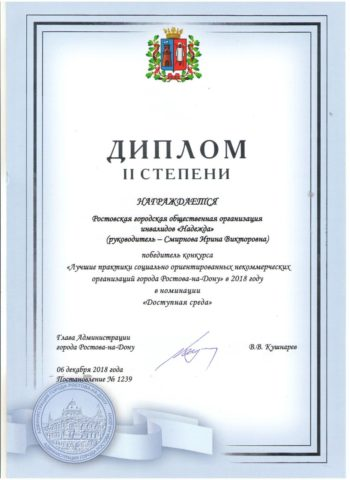 Лучшие практики социально ориентированных некоммерческих организаций г. Ростова-на-Дону